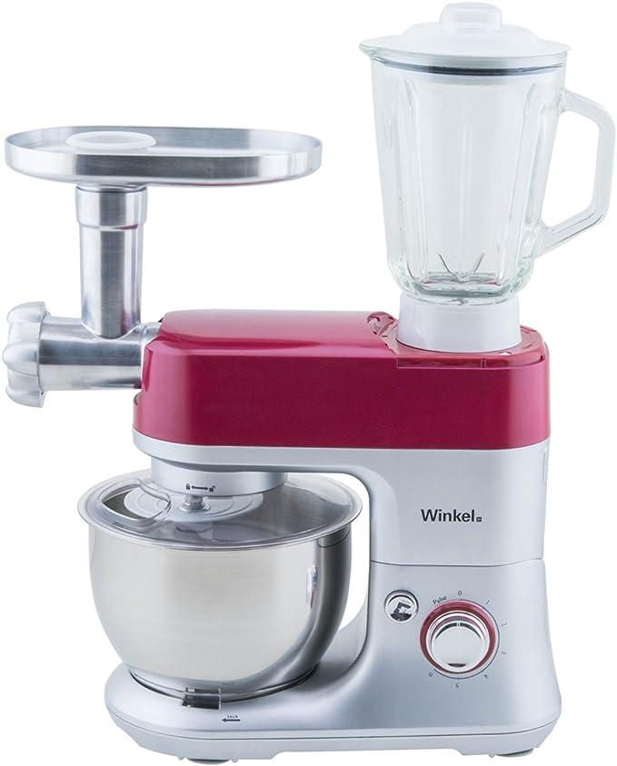 Winkel RX80 RX80-Robot de Cocina multifunción, batidora amasadora, Color Rojo, 650 W: Amazon.es: Hogar