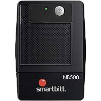 Smartbitt - No-Break Interactivo, Regulador y Supresor de Picos - UPS Ideal para apagones y Cortes de energía - Batería de Respaldo - Negro (500 Va, Hogar y Oficina)