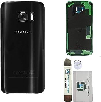 ITG® Kit de Réparation de Couverture de Batterie d'origine pour Samsung Galaxy S7 Edge Noir (Black Onyx) – Samsung Panneau Arrière d'origine pour ...