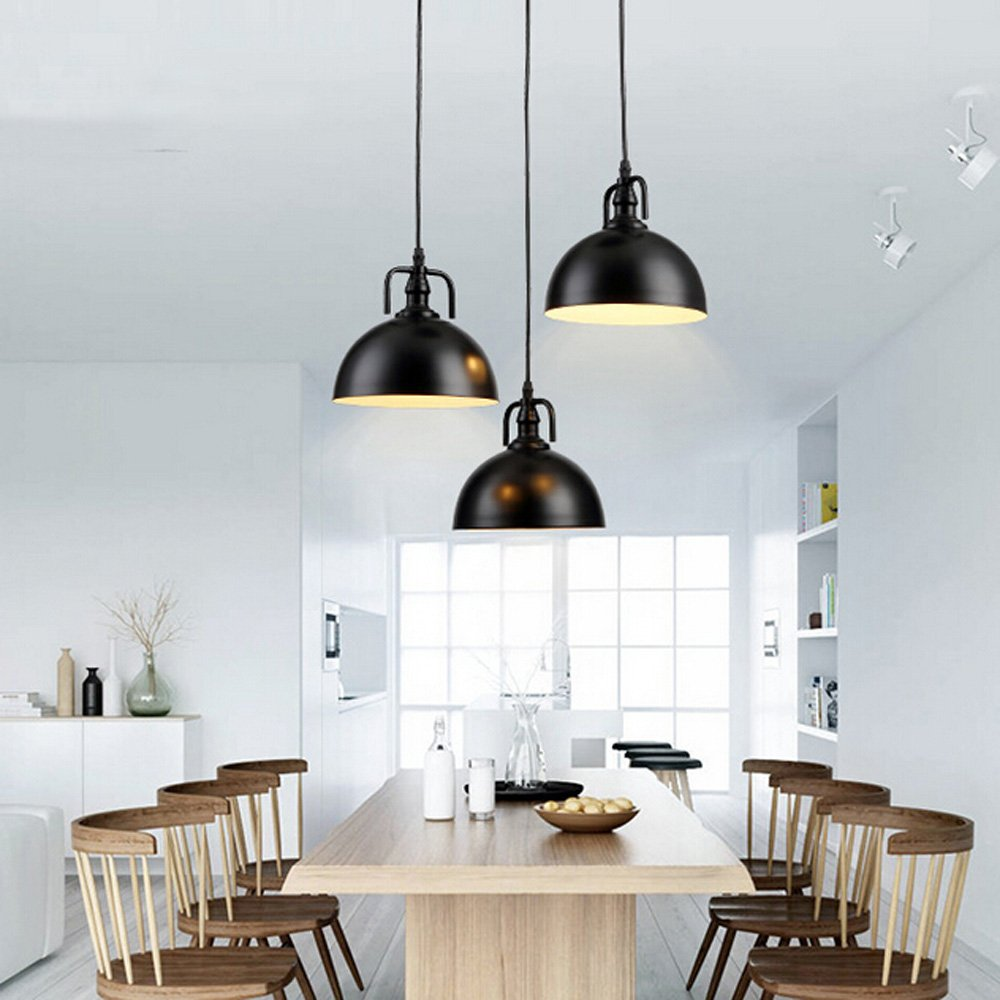 WINSOON 30cm Industrial Metal Pendant Light Antique Style Lampshades ...