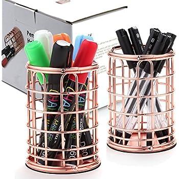 Nice ... Wire Pen Pencil Holder For Women Office Desktop Organizer Modern Makeup  Brush With Rose Gold Color Amazon Com Superbpag Set Of. Fashionable Idea  Hanging ...