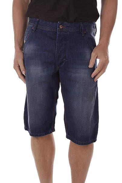 Diesel Kroshort 0TAIZ Pantalones Vaqueros Hombre Bermudas ...