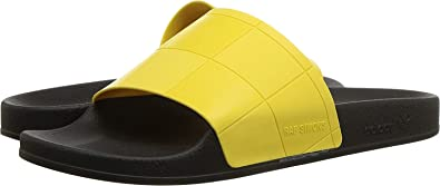 5b292a7f67b8 adidas by RAF Simons Men s Adilette Checkerboard Core Black Core  Black Super Lemon 4