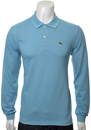 57b7cece22 Mens Lacoste Long Sleeve Polo Shirt | L1312 | S53 | Fleuve (4 | Medium):  Amazon.co.uk: Clothing