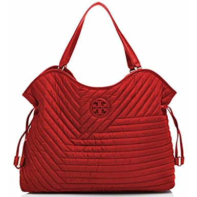 dcbf8cae864 Amazon.com  Tory Burch Tote Quilted Nylon Slouchy Handbag  Clothing