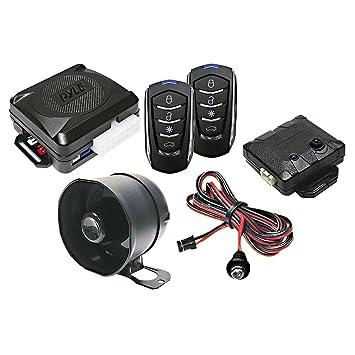 61MO3ltsTaL._SY355_ amazon com pyle car alarm security system 2 transmitters w 4