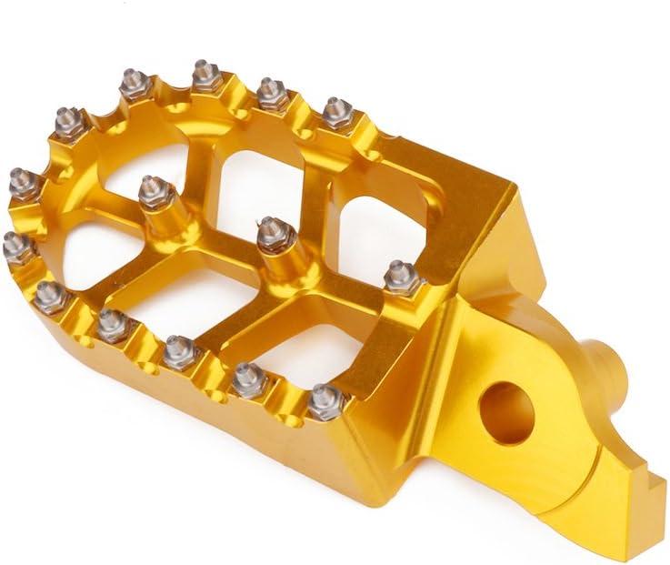 Moto CNC Pied Large Pegs P/édales Repose Repose-Pieds pour Suzuki RMZ250 2007-09 RMZ450 05-07-or
