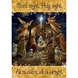 Silent Night – STANDARD Size, 28 Inch X 40 Inch, Decorative Double Sided Flag MADE IN USA by Custom Décor Inc. For Sale