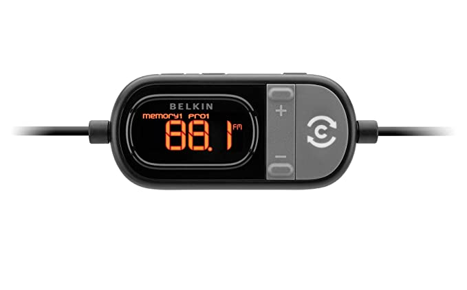 buy popular a3677 1a33a Belkin F8Z498 Tunecast Auto Live FM Transmitter and Charger for iPod/iPhone