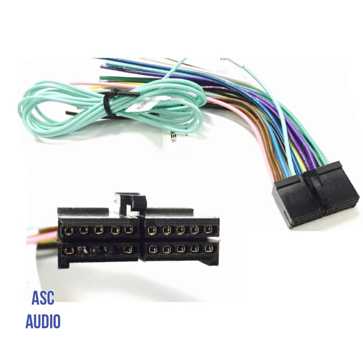 ASC Audio Car Stereo Radio Wire Harness Plug for select Boss 20 Pin Radios  DVD Nav