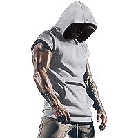 Cabeen Camiseta de Tirantes Deportiva Fitness Sudadera con Capucha Sin Mangas para Hombre Culturismo Gym Tank Top con…