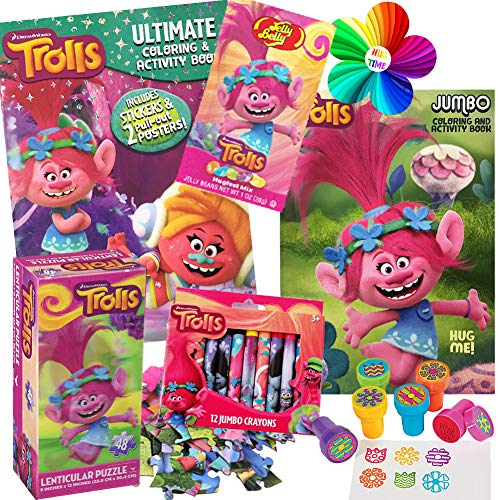 Dreamworks Trolls Coloring Book Toy Set by ColorBoxCrate -7 PACK - Includes Trolls Activity Books, Trolls Puzzle, Trolls Crayons, Trolls Stickers, Trolls Stampers, Trolls Candy for Children Ages 3-8]()