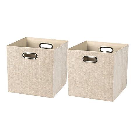 Posprica Cajas de Almacenaje,Cestas de Almacenamiento Plegable,Contenedores de Almacenamient para Organización En