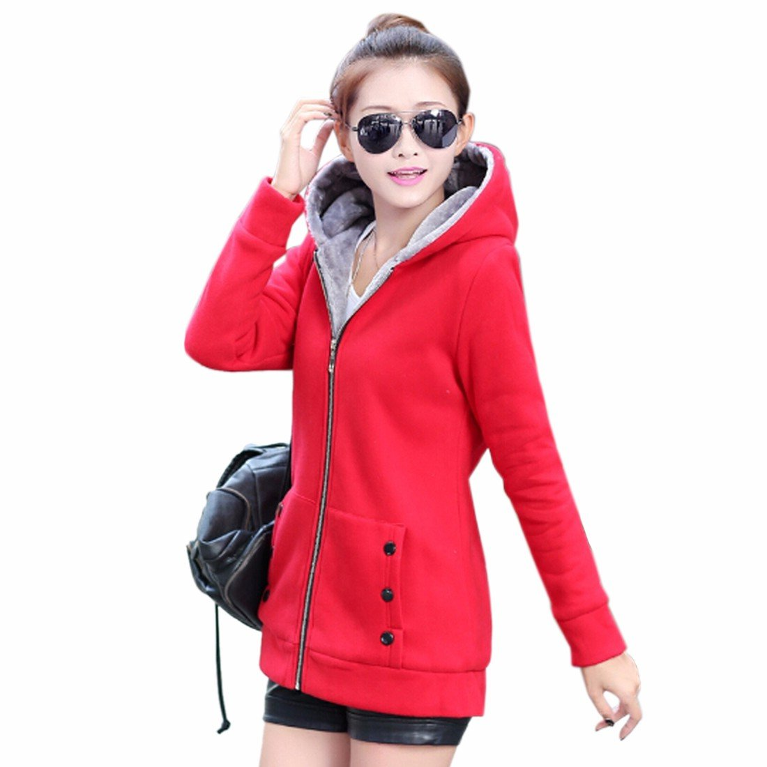 New Winter Women Thicken Jacket Hooded Hoodie Long Sleeve Outwear M-Xxxl WINSON