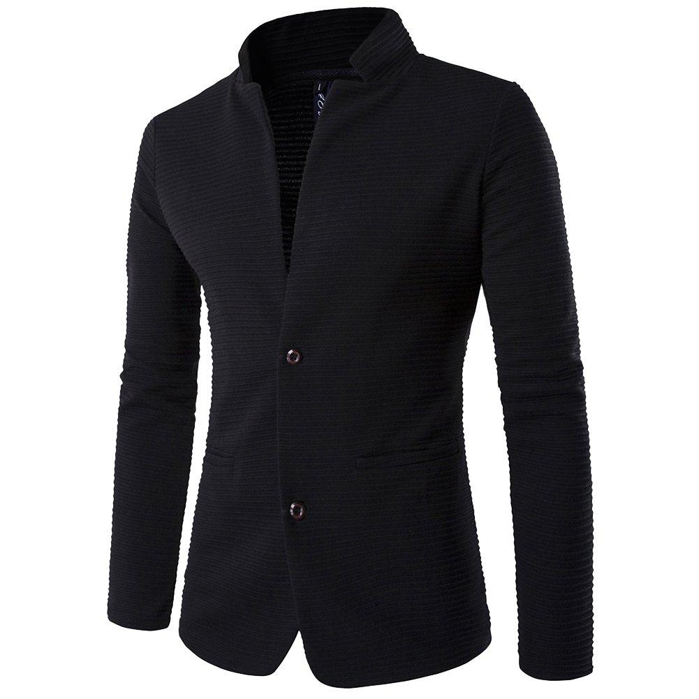 Giacca Blazer Monopetto da Uomo Casual Jacket Slim Fit Tailleur Cappotto Outerwear