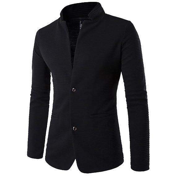 Chaquetas Blazer Hombre Casual Slim Fit Dos Botones Chaqueta Corto Abrigo: Amazon.es: Ropa y accesorios