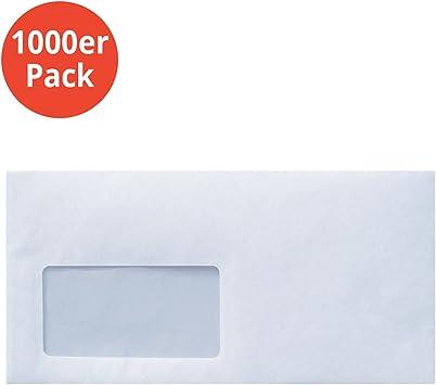 1000 Stück Briefumschlag DIN lang mit Fenster sk