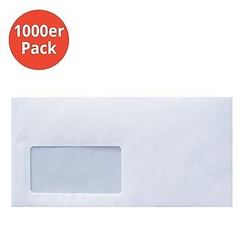 Briefumschlag Din Lang Mit Fenster Selbstklebend I 1000 Stück I Din