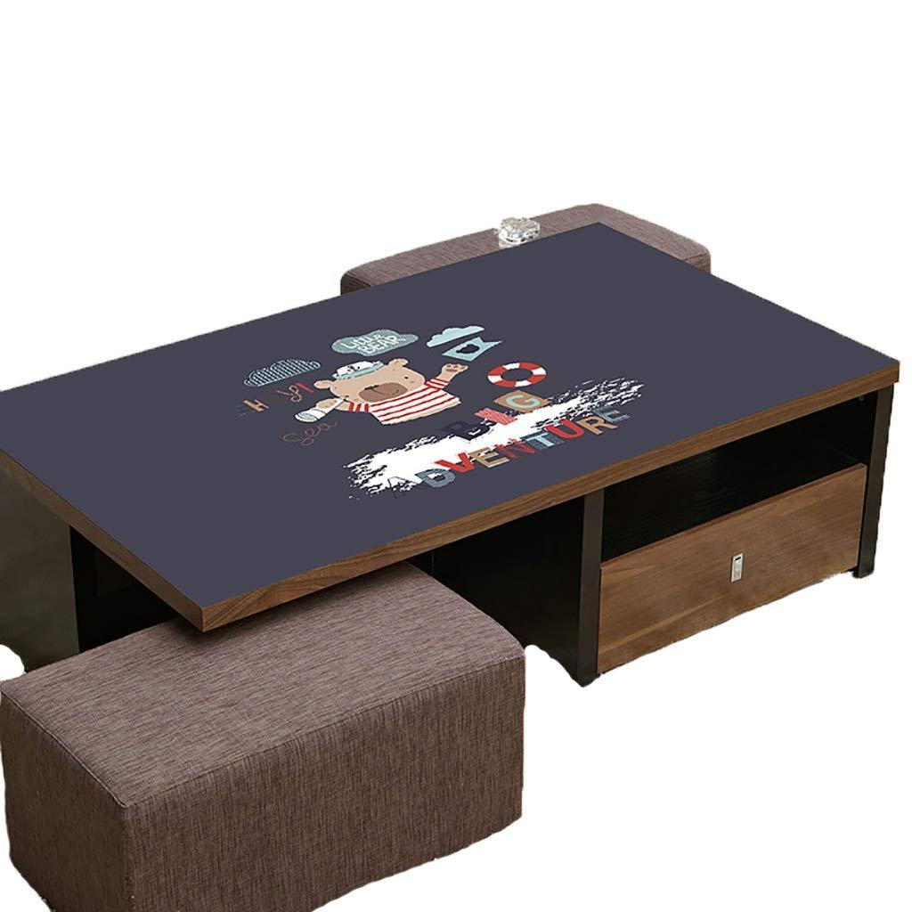 テーブルクロスソフトグラスPVC 70x120cm防水アンチホットアンチオイル簡単クリーンテーブルプロテクターコーヒーティーテーブルマットプラスチックテーブルクロス (サイズ さいず : 70x140cm) 70x140cm  B07S1LSVGZ