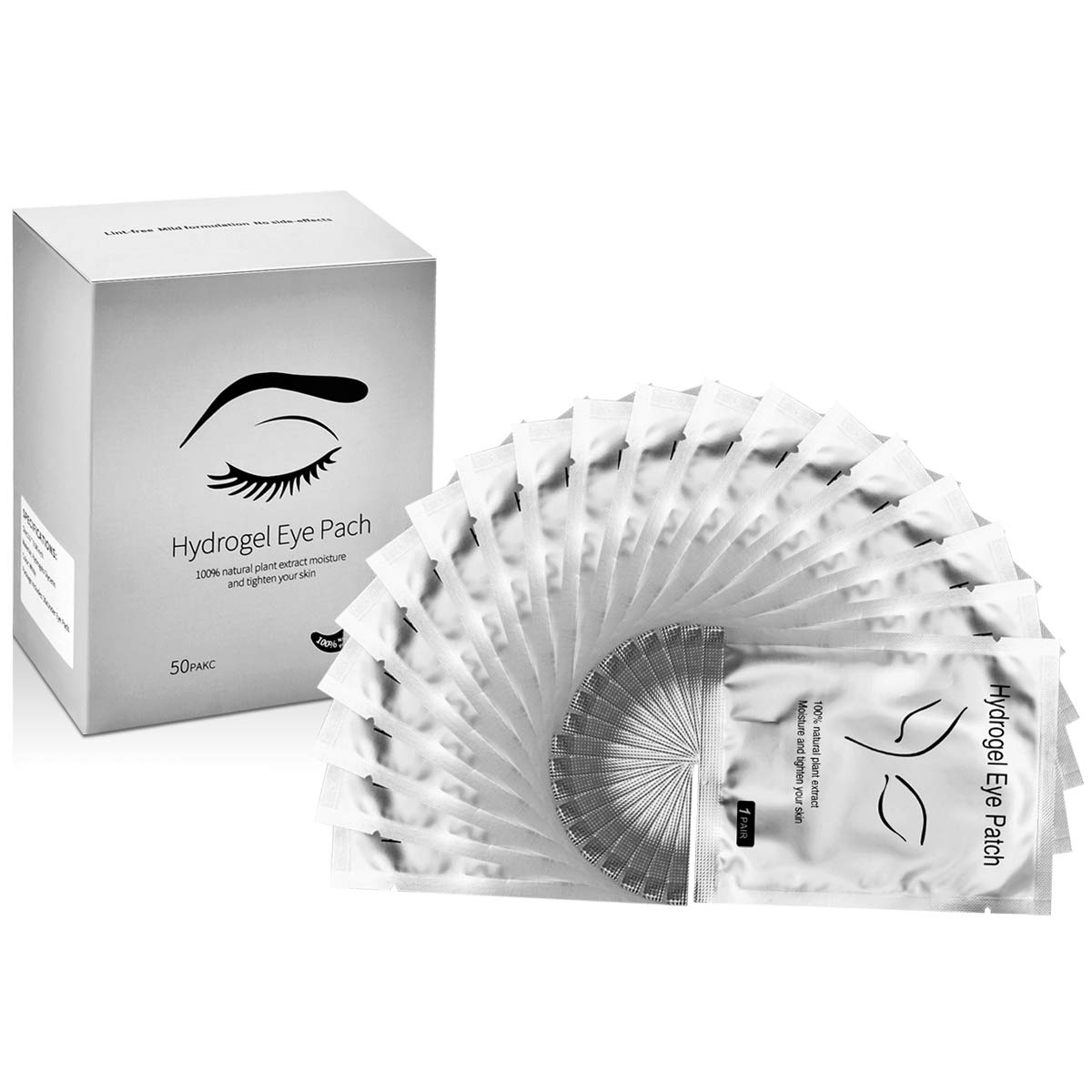 Under Eye gel Pads, Tsmaddts pelucchi Lash extension Eye gel Patches for Eyelash extension Eye Mask beauty Tool–50paia