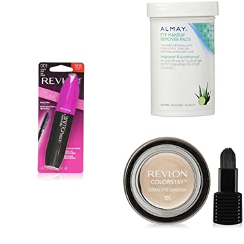 Revlon Complete Eye Collection + Almay Longwear & Waterproof Eye Makeup Remover Pads - Blackest Black