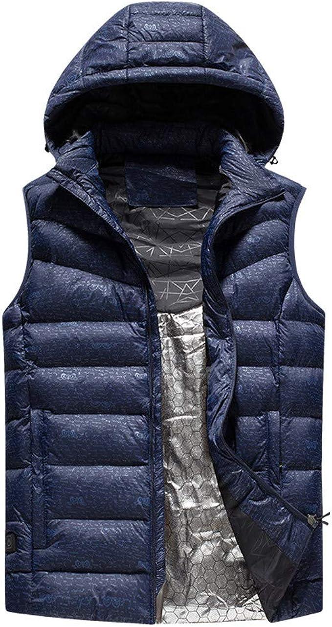 Skifahren,Schwarz,L BEIAKE Elektrisch Beheizt Hoodie Unisex Mit USB-Lade 3 Temperatur Steuerbare Fleece Full-Zip Sweatshirt F/ür M/änner Frauen Outdoor Wandern