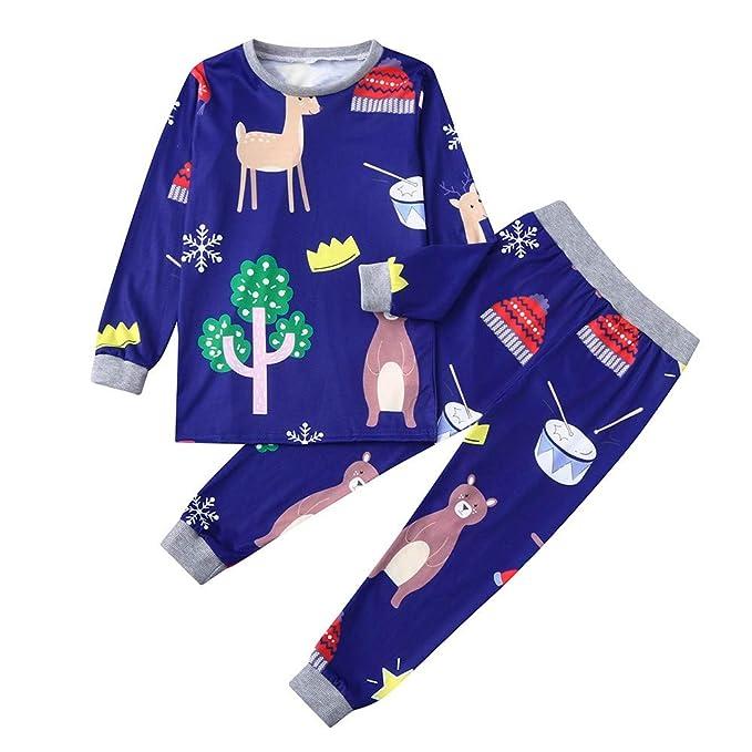Conjunto de Pijamas Familiares de Navidad, Btruely Rojo Rayas Trajes Navideños para Mujeres 2pcs Navidad niños Imprimir Top + Pantalones Ropa de Familia ...