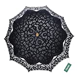 TopTie Lace Parasol Umbrella Wedding Party Decoration Bridal Costume Accessory BLACK-120PCS