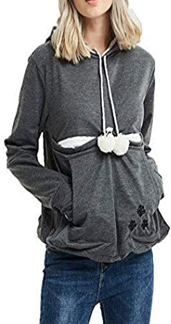 NINGZ Unisex Pet Carrier Cat Dog Kangaroo Pouch Hoodies Pullover Long Sleeve Puppy Holder Sweatshirt