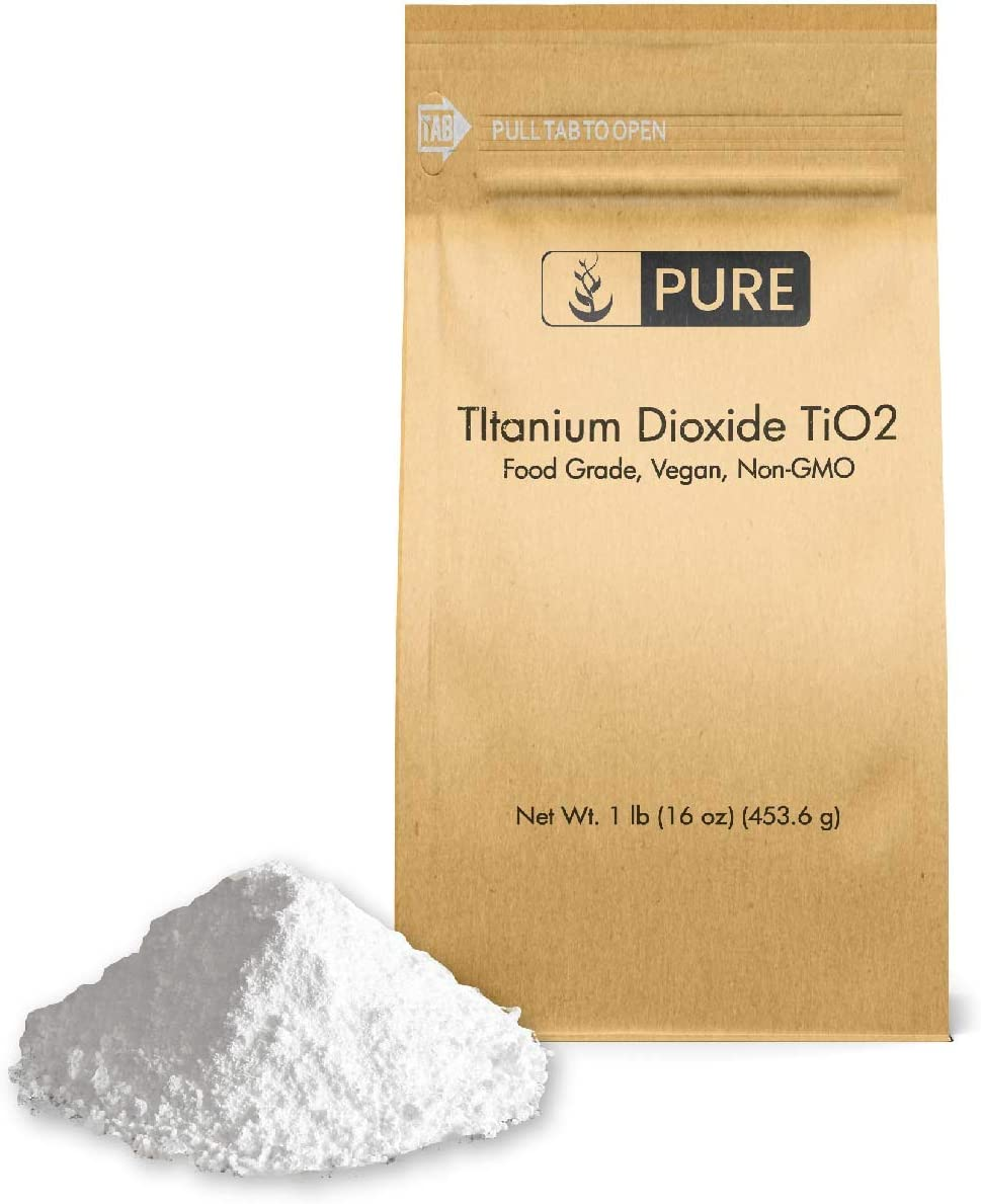 Titanium Dioxide TiO2 (1 lb.), Eco-Friendly Packaging, Naturally Occurring Mineral, pH Neutral