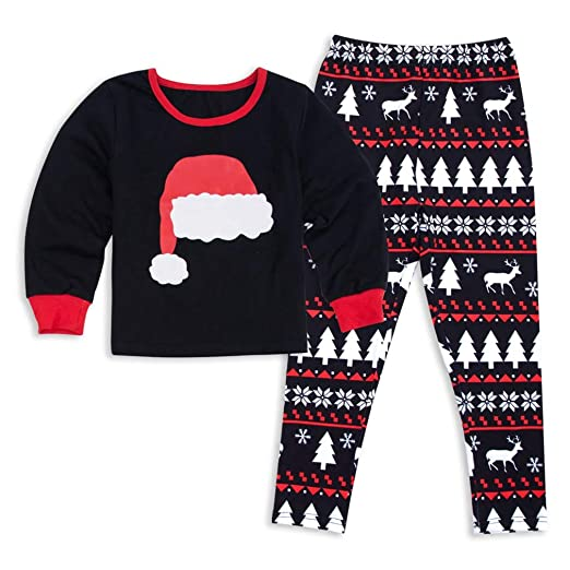 be00c337e9 Vanbuy Kids Christmas Family Matching Pajama PJ Sets Holiday Family PJs  Girls Z219-8673-
