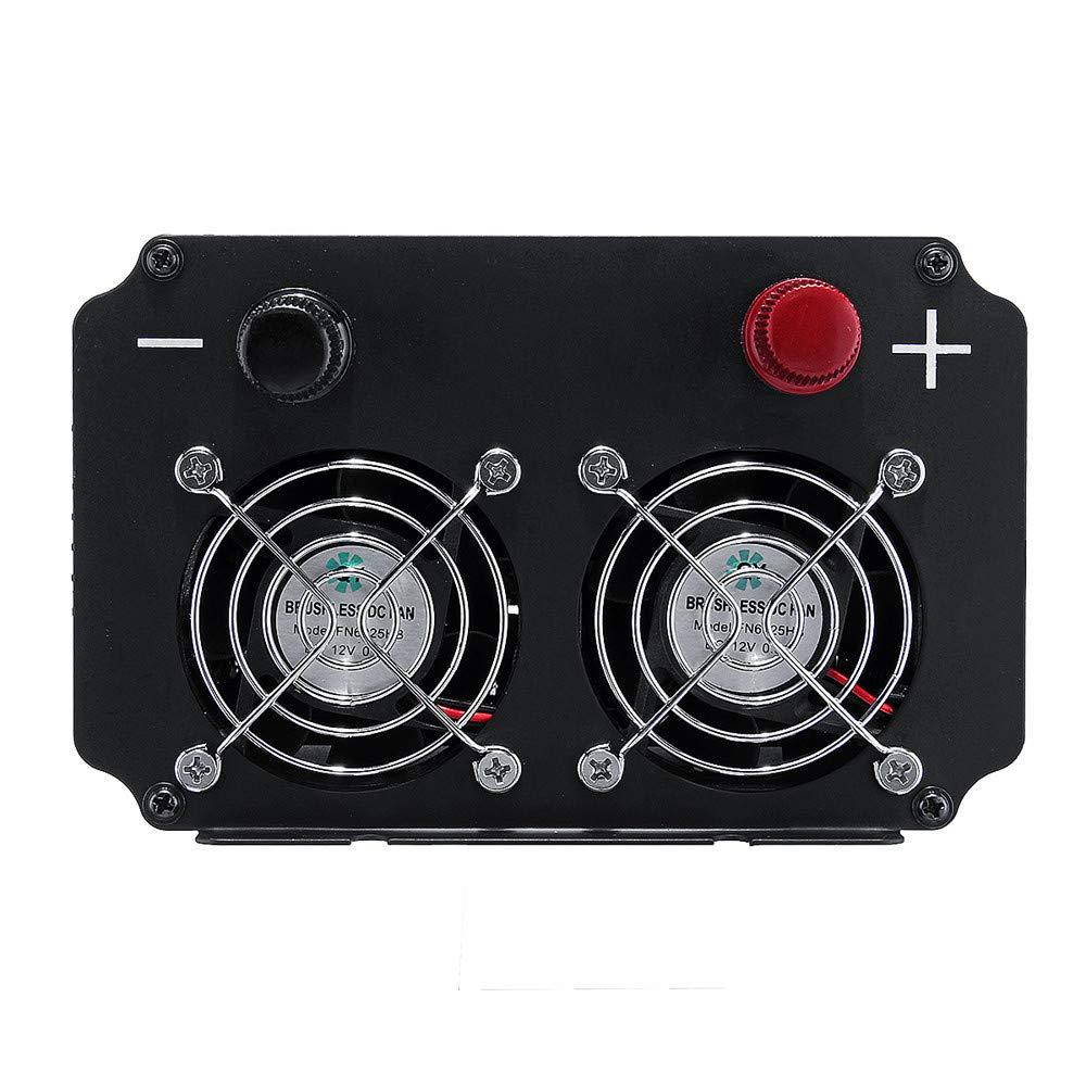 QHJ 8000W Auto Wechselrichter 12   24V bis 110   220V Sinus-Wellenwandler mit Flachsicherungen