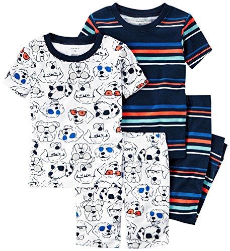 Pajamas Carters Dog - Carter's Boys' 4 Pc Cotton 341g279, Print 4T