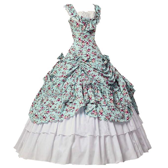 Amazon.com: Vestidos góticos victorianos sin mangas para ...