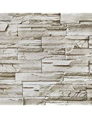 "Brick Stone Wallpaper Peel and Stick Wallpaper Brick Self Adhesive Removable Contact Paper Kitchen Backsplash Waterproof Wallpaper Shelf Drawer Liner Roll 17.7""x118"""