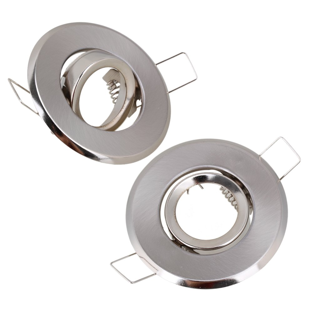 MR11 Polished Chrome Fitting Fixture Lamp Holders Ceiling Spot Downlights 70mm Dia Pack of 2 ZIJIA P12-L56