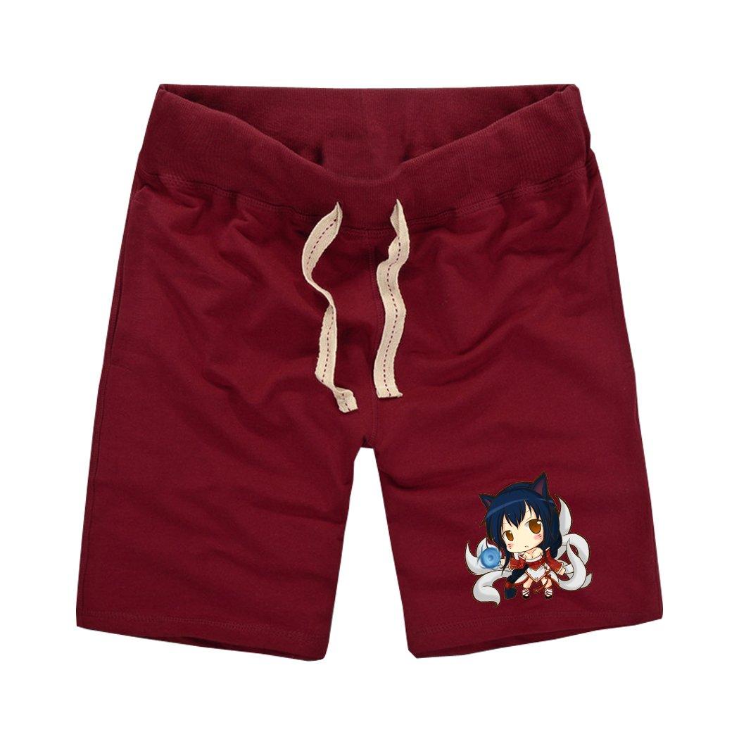 Sysuer Mens LOL Cute Ahri Cotton Gym Shorts Casual Short CShort818