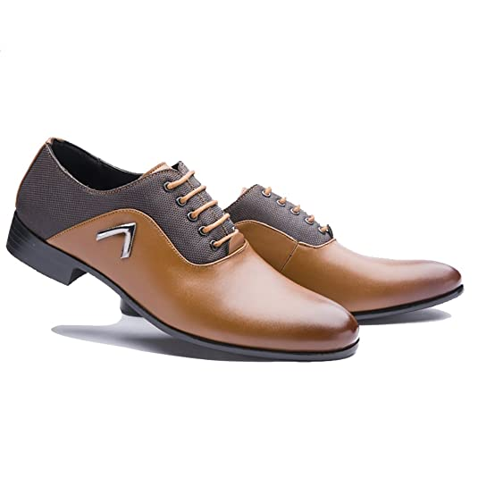 Tribangke - Chaussures Plates Avec L'homme Lacets, Jaune, Taille 38