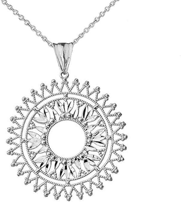 Colorful Silver Mandala Pendant Necklace Boho Bohemian Jewelry FREE SHIPPING