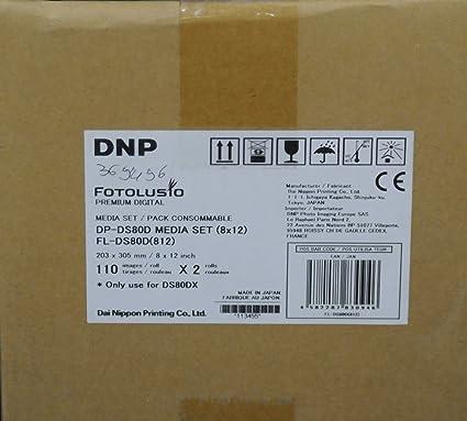 DNP Kit de impresión 20x30cm Doble Cara para Impresora DS80DX ...