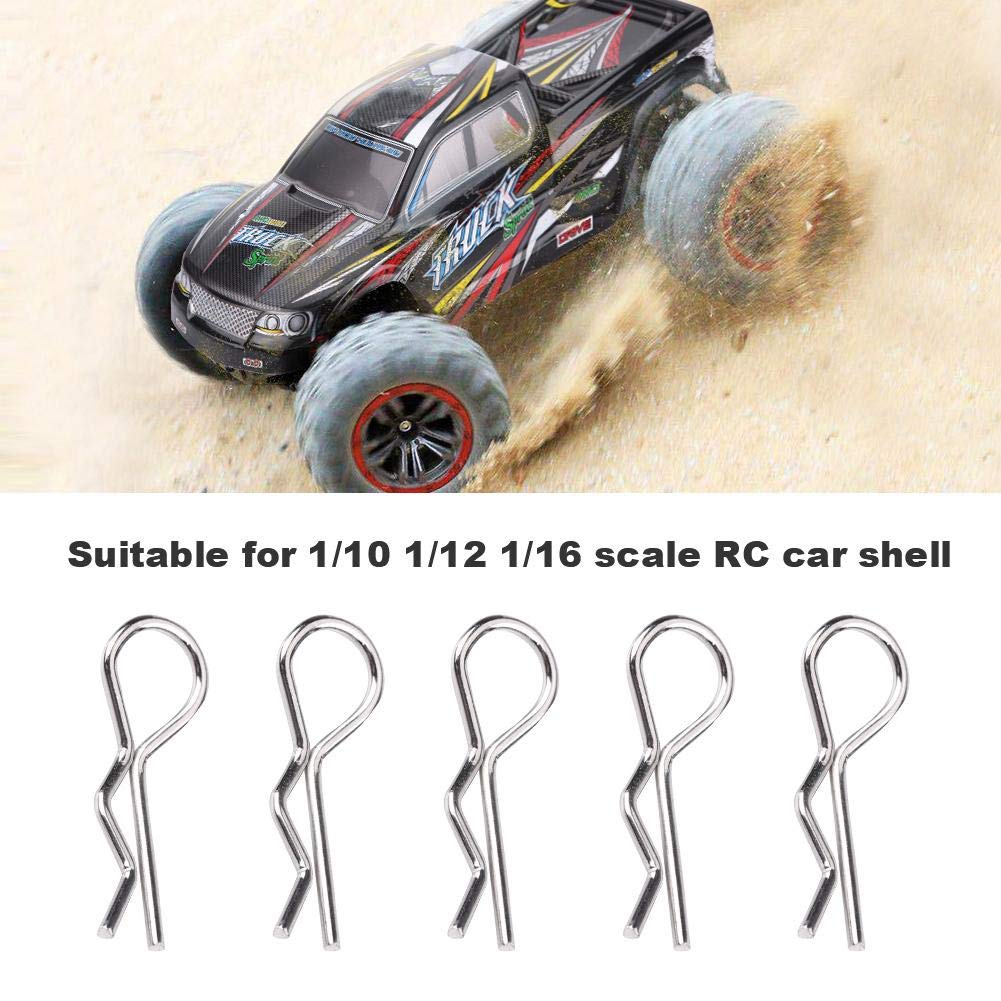 RC Model Car Clip Pin,50Pcs R-Type Latch Accessories Body Clip Pin for 1//10 1//12 1//16 Scale Remote Control Car RC Shell Pin Universal RC Body Clips Pins Truck Buggy Clips Pins Replacement