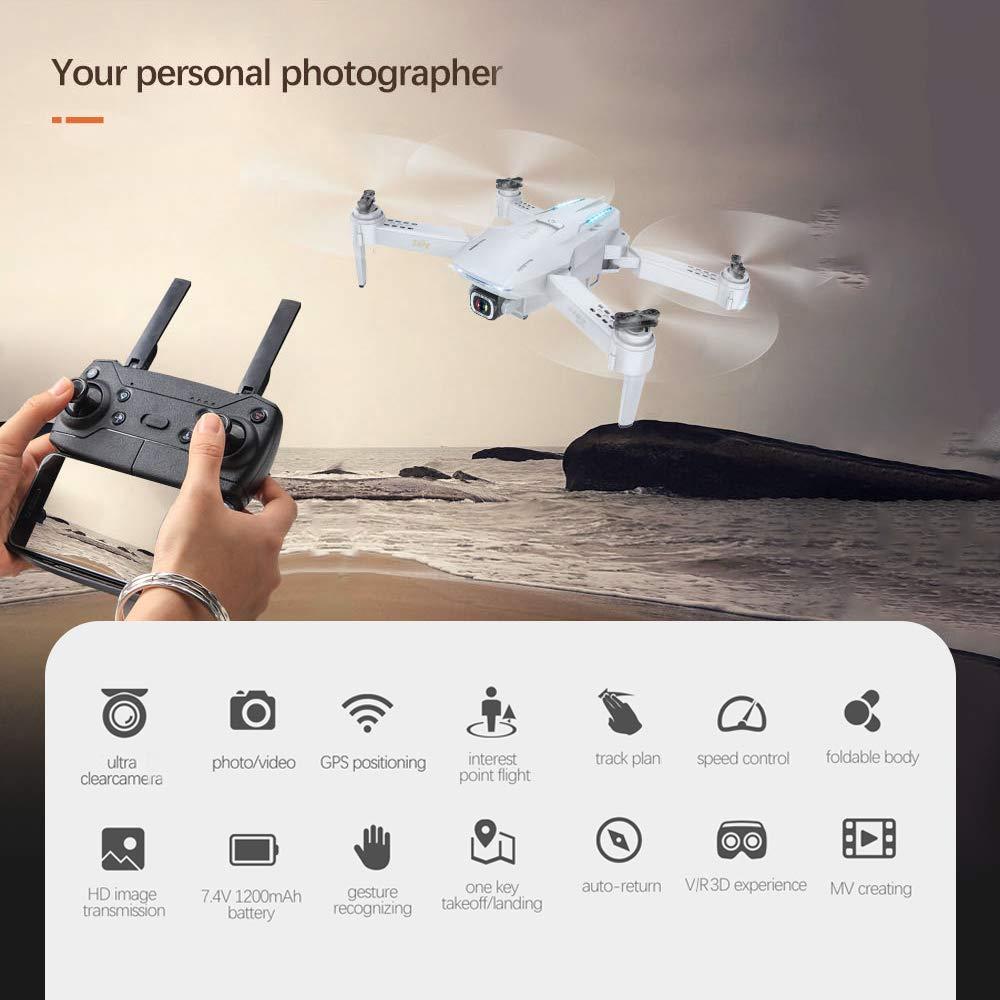 Goolsky- S162 RC Drone con Cámara GPS Ajustable Gran Angular 1080P ...