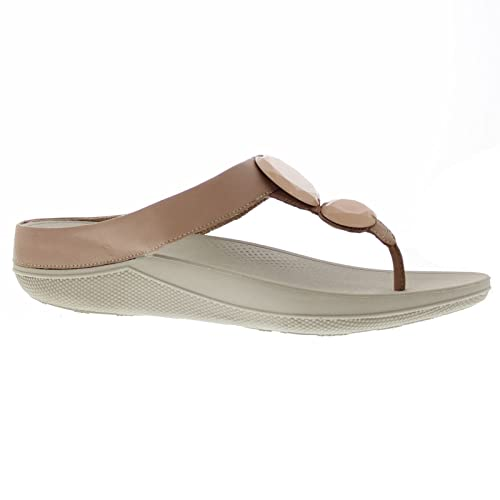 390e60569188 FitFlop Womens Luna Pop Nude Leather Sandals 6 UK  Amazon.co.uk  Shoes    Bags
