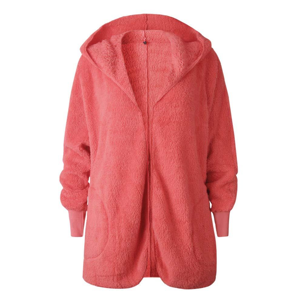 vpass Women Ladies Quilted Winter Warm Outerwear Hooded Open Front Cardigan Puffer Fur Padded Overcoat Thicker Jacket Fleece Collar Coat
