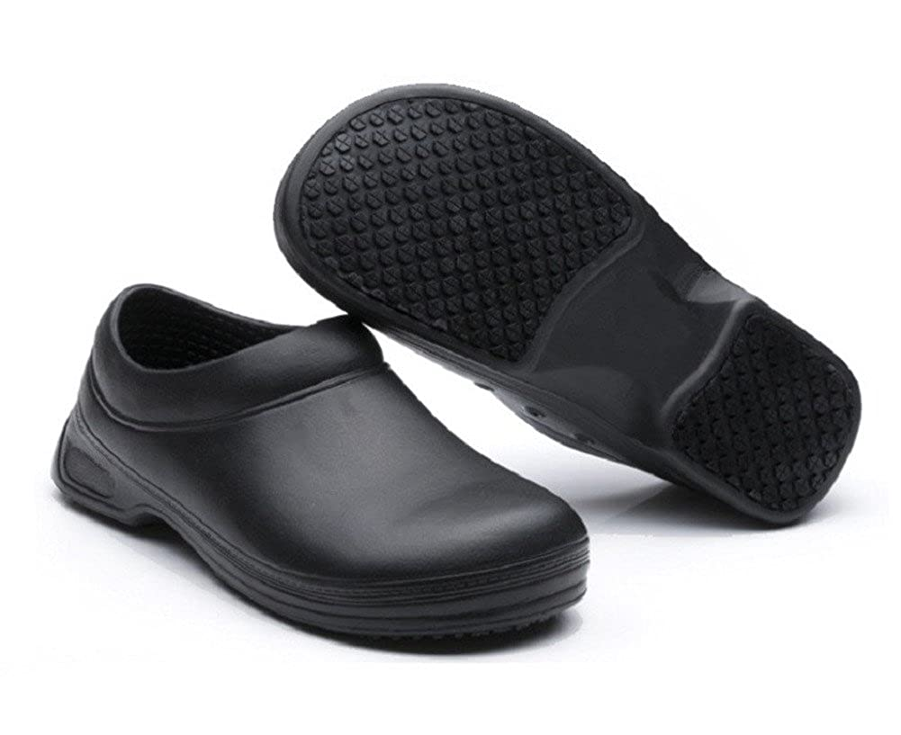INiceslipper Unisex Chef Shoes Non-Slip Safety Shoes Oil Water Resistant Casual Flat Shoes