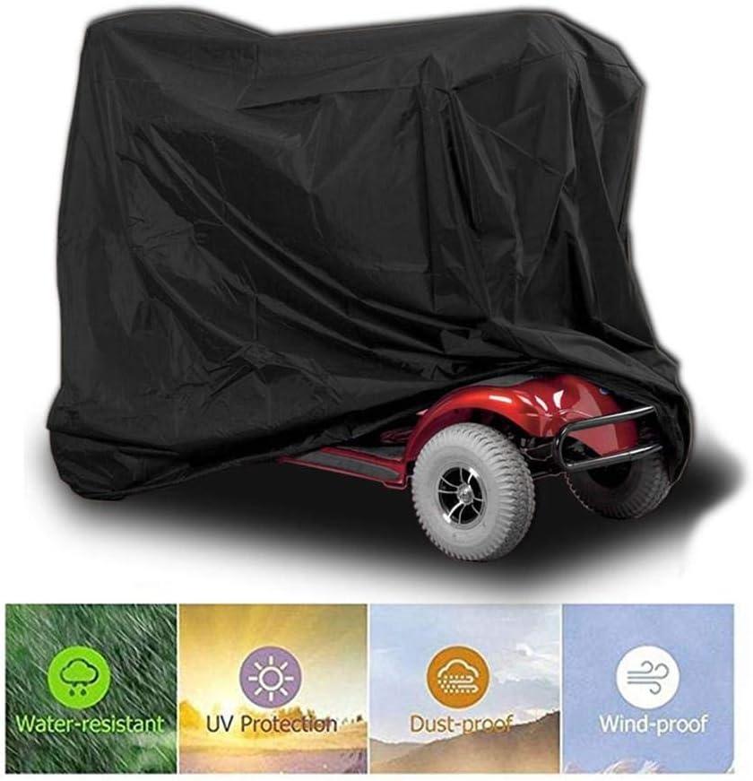 Cubierta de scooter de movilidad, impermeable, liviano, exterior Silla de ruedas Orgullo Power Scooters Cubiertas de almacenamiento para 4 ruedas Accesorios para lluvia de polvo eléctrico 17061117cm