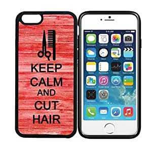 iPhone 6 (4.7 inch display) RCGrafix Keep Calm And Cut Hair 4 - Designer BLACK Case - Fits Apple iPhone 6- Protected Cell Phone Cover PLUS Bonus Iphone Apps Business Productivity Review Guide