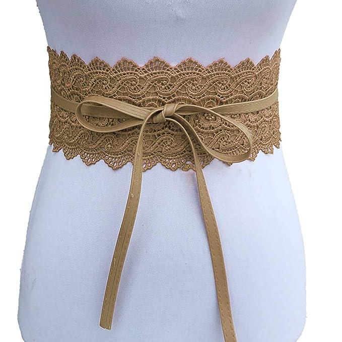 Uzinb Large Dentelle Corset Ceinture Femme Tie Auto Cinch Waistband Ceintures  pour Femmes Robe de mariée Taille Band  Amazon.fr  Cuisine   Maison d3dff0f8fda