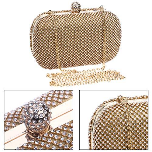 De De Bolsos Embrague Las Bolsos Cadena Señoras Bodas Oro De Cartera Diamante La De De De La De Monedero Mujeres De Vestido Noche xTUqE1wp