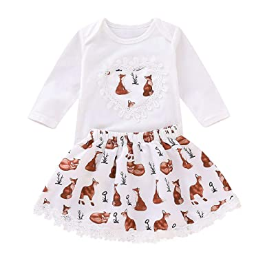 61d028d4b 2PCS Newborn Infant Toddler Baby Girls Long Sleeve Cartoon Animals ...